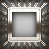 Polished metal element on gray background Royalty Free Stock Photos