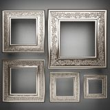 Polished metal element on gray background Royalty Free Stock Photo