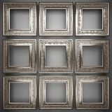Polished metal element on gray background Stock Images