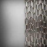 Polished metal element on gray background Royalty Free Stock Images