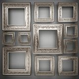 Polished metal element on gray background Stock Photo