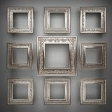 Polished metal element on gray background Stock Photography