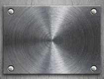 Polished metal plate Stock Photos