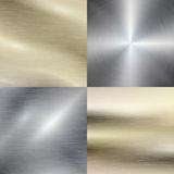 Polished metal, steel texture vector background. Polished metal, steel texture background. Metallic material, stainless steel, brushed pattern, vector Stock Photography