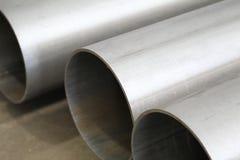 Polished metal tubes Royalty Free Stock Photos