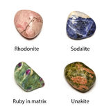 Polished minerals Royalty Free Stock Photos