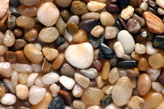 Polished pebbles close up Stock Photos