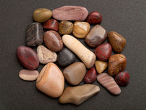 Polished pebbles from the Gaspesie Stock Photography