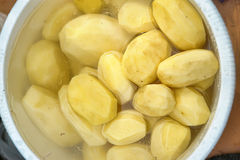 Polished potatoes Stock Photography