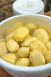 Polished potatoes Royalty Free Stock Photo