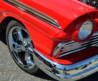 Polished red car Stock Photography