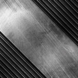 Polished silver metal plate with stripe pattern Stock Photography