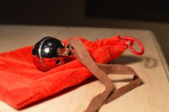 Polished Silver Sleigh Bell stock photos