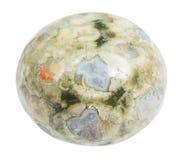 Polished specimen of green Madagascar Rhyolite Stock Image
