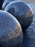 Polished spheres. Outside basketball arena in Cleveland, Ohio Royalty Free Stock Images