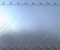Polished stainless steel background Stock Image