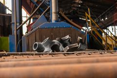 Polished steel products Stock Photography
