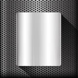 Polished steel texture on hold metal abstract background vector Stock Photos