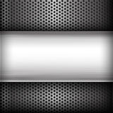 Polished steel texture on hold metal abstract background vector Royalty Free Stock Images