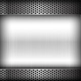Polished steel texture on hold metal abstract background vector Stock Photography