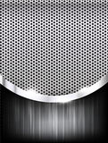 Polished steel texture on hold metal with curve abstract backgro Stock Photos