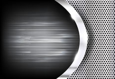 Polished steel texture on hold metal with curve abstract Royalty Free Stock Photography