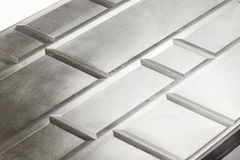 Polished steel texture Stock Images
