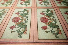 Polished stone floor scene. Stock Photo