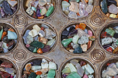 Polished Stones In Baking Tray Royalty Free Stock Photography