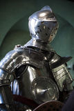 Polished suit of medieval armour Royalty Free Stock Photo