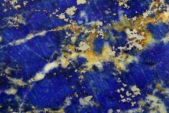 Polished surface of Lapislazuli. Rock Stock Images