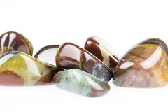 Polished tiger's eye gemstone Stock Image