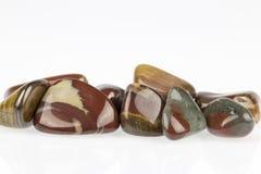 Polished tiger's eye gemstone Stock Photo