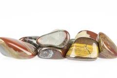 Polished tiger's eye gemstone Stock Images