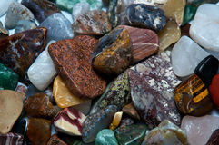 Polished tumbled rocks detail Royalty Free Stock Photo
