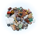Polished tumbled stones Royalty Free Stock Photography