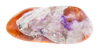 Polished violet Charoite on brown Tinaksite stone Royalty Free Stock Photography