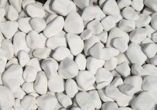 Polished white marble pieces closeup Royalty Free Stock Images