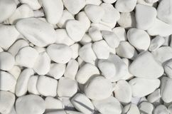 Polished white marble pieces closeup Royalty Free Stock Photography
