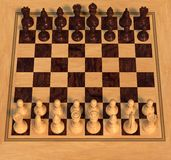 Polished Wood Chess Set Royalty Free Stock Photo