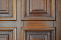 Polished wooden window Royalty Free Stock Photography