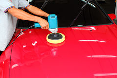 Polishing the car Royalty Free Stock Photos