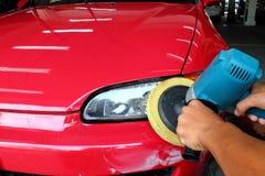 Polishing the car Royalty Free Stock Photography