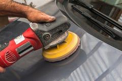 Polishing a car Stock Photos