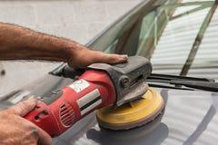 Polishing a car Royalty Free Stock Photos