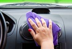 polishing  a car Royalty Free Stock Image