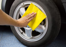Polishing the coated wheels Stock Photography