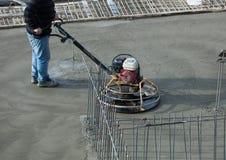 Polishing concrete Stock Images