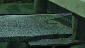 Polishing granite slabs on production. Granite processing in manufacturing. Polishing granite plate on the machine stock video