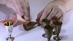 Polishing silver shots stock video